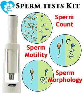 dog sperm count test microscope